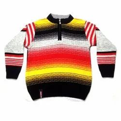 Muticolor Boys Woolen Sweater