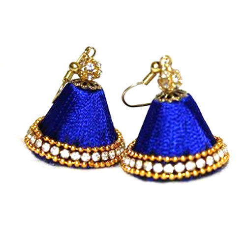 designer silk thread earring at rs 240 pair silk thread