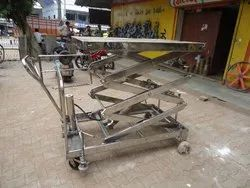 SS Hydraulic Lift Table With Wheel