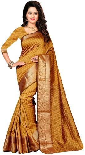 b6e6d197519563 Cotton Silk Saree - Pure Cotton Silk Kanjivaram Saree Manufacturer from  Surat