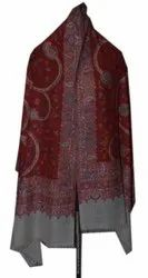 Kani Jamawar Stole with Woven Flowers Paisleys in Multi-Color Shawl
