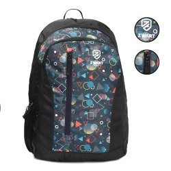 Black School Printed Backpack