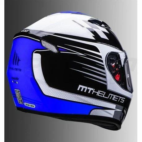 Mt Blue Mugello Xela Gloss Helmet Blue Size S And Xl Rs 4600