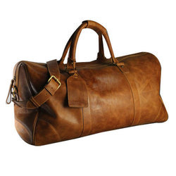 MB Leather Generals Brown Casual Duffel Travel Bag