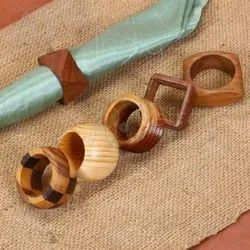 Diffrent Shape Wooden Napkin Ring