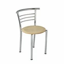 Polished Wooden Stainless Steel Chair for Cafe