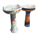Ceramic Printed Designer Pedestal Wash Basin
