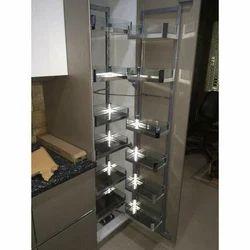 Silver Kitchen Corner Unit