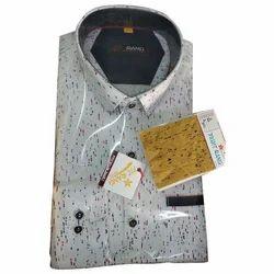 White Cotton Mens Stylish Casual Shirt