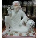 White Makrana Sai Baba Statue