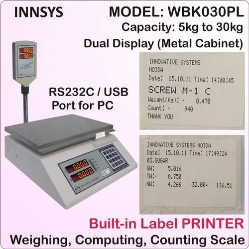 Weighing Scale with Label Printer