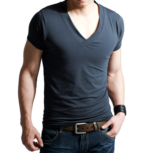 5ec883b797f9 Medium And Large Cotton Stylish V Neck T Shirt