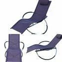 Folding Rocking Chair - Aluminum- Purple