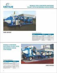 Mobile Concrete Batching Plant Drum Mixer