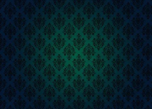 Plain And Printed Royal Pattern Flower Pot Wallpaper