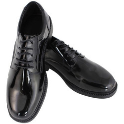 Leather Security Guard Black Shoes
