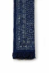 Cotton Printed indigo throw