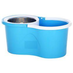 Stainless Steel 360 Rolling MagicFloor Spin Mop & Bucket