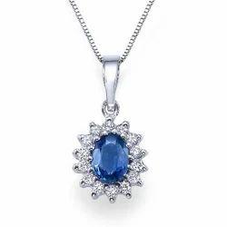 Diamond Sapphire Pendants