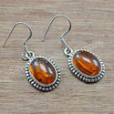 925 Sterling Silver Amber Gemstone Handmade Jewelry Earring