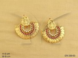 Laxmi Ji Temple Coin Earrings