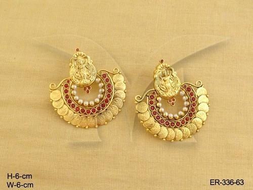 1b04c68fba43e Laxmi Ji Temple Coin Earrings