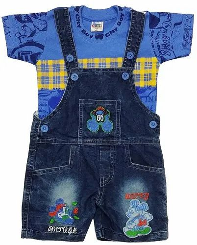 1571c60d Denim Dungaree Set/galis For Baby Boys & Girls