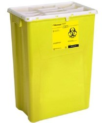 Safe Disposable Sharp Objects Waste Container 26 Litre For Hospitals
