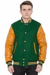 Wool Leather Men Stylish Varsity Jacket