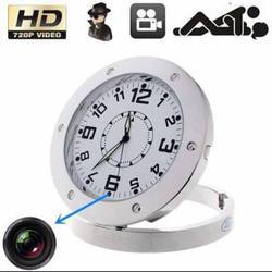Steel Clock Spy Camera