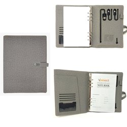 Jute Diary with Power Bank & Pen Drive
