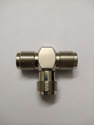 RF Adapter N male TYPE plug to 2 x N female jack RF Splitter T Type connector