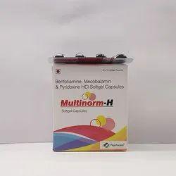 Benfotiamine 30mg, Mecobalamin 500mcg, Pyridoxine Soft Gelatin Caps(Multinorm H)