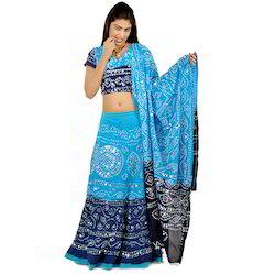 Traditional Bandhej Lehanga Choli Set 303