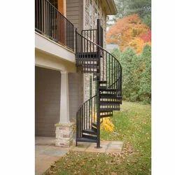Exterior Mild Steel Spiral Staircase