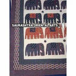 Elephant Ajrak Bedcover Kantha Quilt