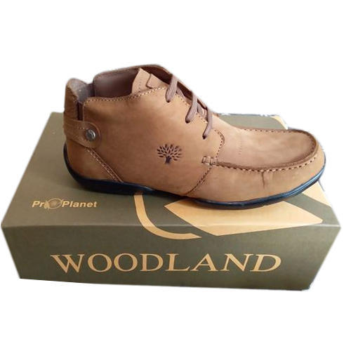 Brown Leather Mens Woodland Casual