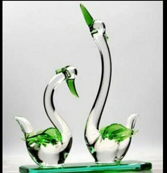 Home Decor Glass Duck Statues