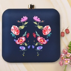 Flower Printed Clutch