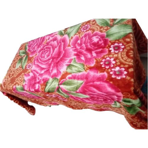 Printed Double Queen Size Bed Blanket, Size: 200 x 240 cm