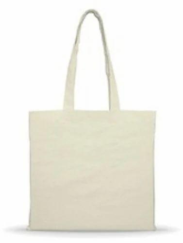 White Plain Cotton Bag, Packaging Type: Custom