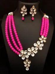 Shourya Exports Multicolor CZ Jewelry Set