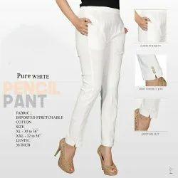 Paron Style Plain Pencil Pant, Waist Size: 30-36