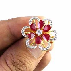 Fine Ruby Diamond Gold Ring