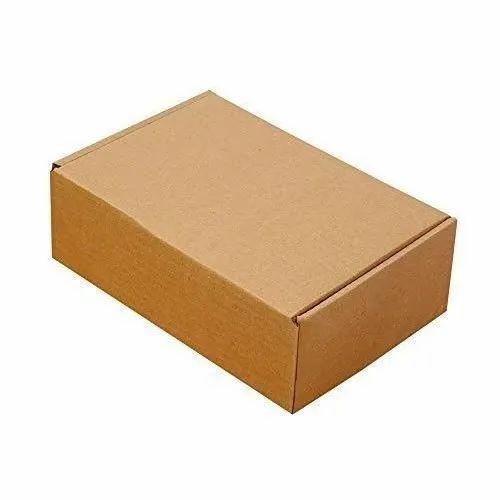 Rectangular Brown Plain Duplex Box