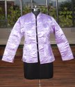 Machine Quilted Satan Silk Jacket