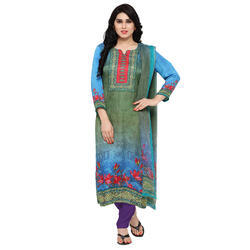 Satin Digital Printed Salwar Suit