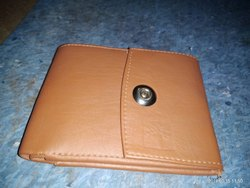 Man Light Brown Leather Wallet