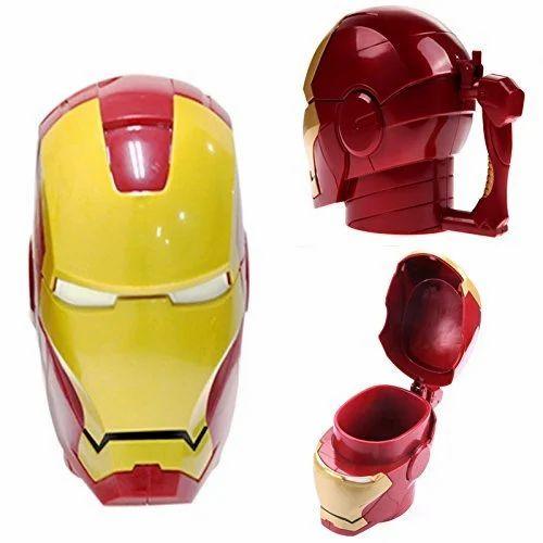 BonZeal Red/yellow Iron Man 3D Cartoon Coffee Tea Cups And Mugs