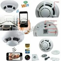 Plastic Day & Night Smoke detector Spy wifi Camera, For Security, Packaging Type: Box
